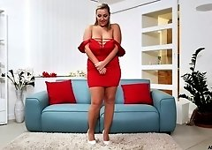 Giant breasted chubby whore Crystal Swift masturbates herself