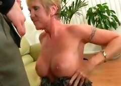 Bigtit mature cougar Honey Ray gets fucked hard before receiving a face load of cum