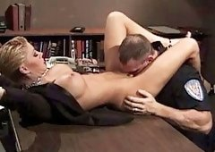 Busty Policewoman Licked And Pounded By Her Office..