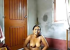 Asian girls with big natural tits, playing with a stranger's cock
