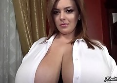 Big tits goddess Xenia Wood squeezed