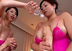 One stiff dick makes Kirishima Ayako and her friend happy