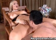 Winsome blond Abbey Brooks got double penetrated