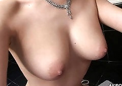 Busty Japanese lady Natsu Ando is so into wanking and sucking dick