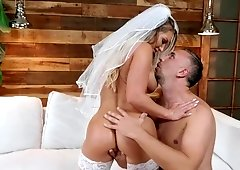 Wet anal with ass creampie starring milf Cali Carter in wedding veil