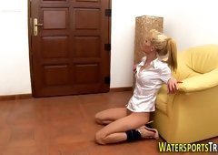 Pissed on whore spunked