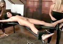 Tickling squirming orgasm