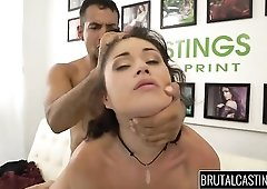Submissive girl bound and fucked roughly