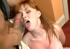 Pretty Marie McCray acting in BDSM video
