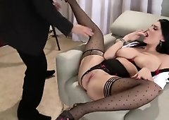 Huge-Titted Fuckfest Queen Emma Leigh Slit Romps Her Fortunate Lawyer in Rear End Fashion