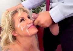 Amazing mature in scenes lf rough sex with her boss