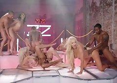 Wild orgy with hottest Brazzers pornstars