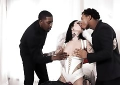 Merciless interracial sex with black hunks for Joanna Angel