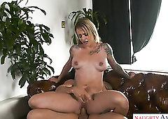 Mesmerizing buxom blondie Sammie Six wanna ride fat sloppy cock