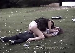 Sexy brunette inside outdoor hardcore