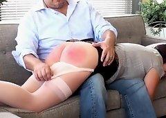 Hot OTK Spanking