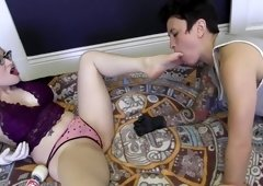 Fabulous pornstars Syd Blakovich and Aiden Starr in exotic tattoos, lesbian porn video