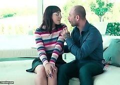 Nerdy chick in glasses Matilde Ramos turned to be anal-insane bitch