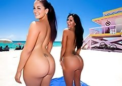 Pair Of Round Booties By The Beach