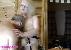 Getting his hands a Busty Mature