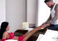 Luscious Shalina Devine has a giving tattooed fuck buddy who is hot