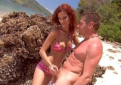 Leanna Sweet wants to be fucked on a secluded beach