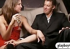 Two sexy ladies have fun with horny men in Foursome mansion