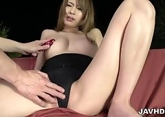 Big titsNami Itoshino is about to have her pussy nailed