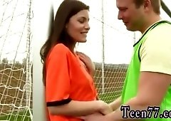 Hot tall brunette xxx Dutch football player humped by photographer