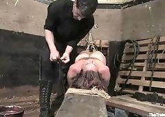 Juicy Bella Rossi in real BDSM action