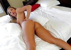 POV video with ravishing MILF that sucks cock of cameraman