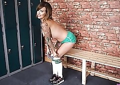 Tattooed girl wants you to wank over her body