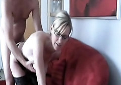 Blonde granny GILF mature doggystyle sex