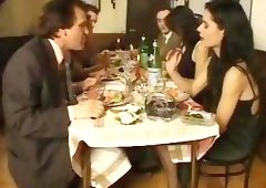 Bamboo is invited to dinner but becomes part of the meal with girl friends