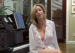Bikini MILF blonde lesbians Elexis Monroe and Jodi West