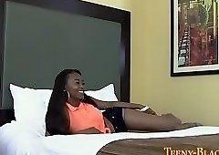Black teen jugs spermed