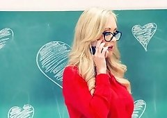 Brandi Love is a sexy teacher who craves a pulsating cock
