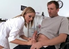 Passionate doctor is teasing her patients