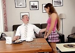 Old teacher enjoys fucking Russian exchanged student Mara Gri