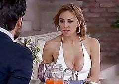 Aracely Arambula seduces a man  with a sexy dress 2019