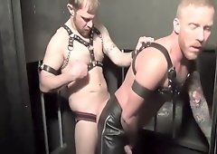 Leather guys full of cock