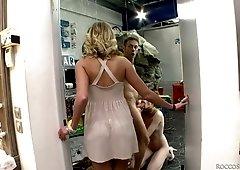 Rocco Siffredi fucks and licks pussy of naughty hottie Aria Logan