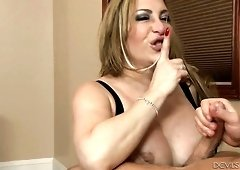 Lusty auburn MILF with tattooed pubic Savannah Jane gets fucked doggy