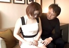 Japanese woman takes off her dress for a fortunate lover