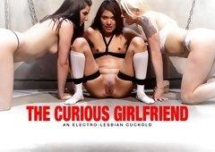 Eva Fenix  Lorelei Lee  Bobbi Starr in The Curious Girlfriend: An Electro-Lesbian Cuckoldan Electrosluts Reality Film - Electrosluts