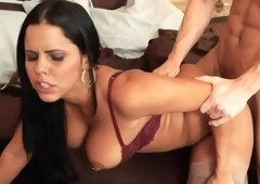 Big ass chick is getting banged