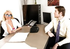Wild MILF Boss Aaliyah Love Humiliates Employee for Sex!