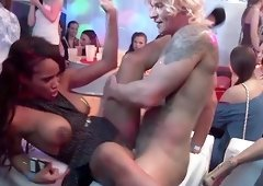 Pretty girls get their wet cunts fucked hard at the party