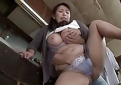 Mom hot in kitchen