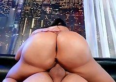 Big tit ass brunette Lela Star blows and gets hardcore sex